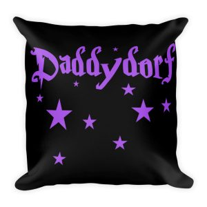 Daddydorf – Black Square Pillow